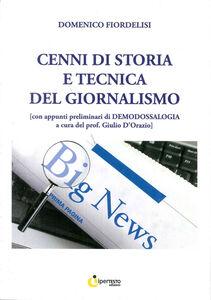 Cenni di storia e tecnica del giornalismo