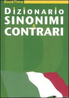 Dizionario sinonimi & contrari - copertina