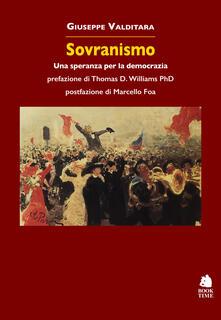 Sovranismo. Una speranza per la democrazia - Giuseppe Valditara - copertina