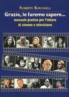 Antondemarirreguera.es Grazie, le faremo sapere... Manuale pratico dell'attore di cinema e televisione Image