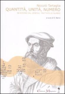 Ipabsantonioabatetrino.it Quantità, unità, numero. Una selezione dal «General trattato di numeri, et misure». Testo latino a fronte Image
