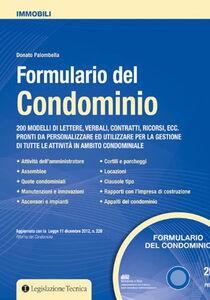 Formulario del condominio. Con CD-ROM