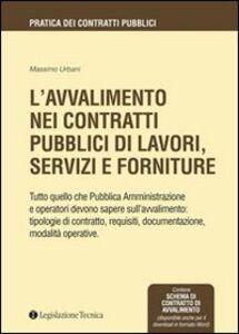 L' avvalimento nei contratti pubblici di lavori, servizi e forniture