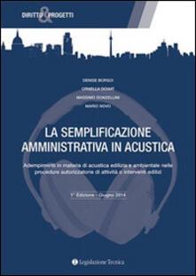 Cocktaillab.it La semplificazione amministrativa in acustica. Adempimenti in materia di acustica edilizia e ambientale nelle procedure autorizzatorie... Image