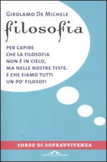 Capturtokyoedition.it Filosofia. Corso di sopravvivenza Image