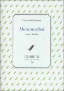 Metamorfosi e altre liriche - Gertrud Kolmar - copertina