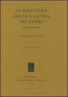 Daddyswing.es La scrittura greca e latina dei papiri. Una introduzione Image