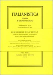 Per Michele Dell'Aquila. Studi su Ottocento e Novecento