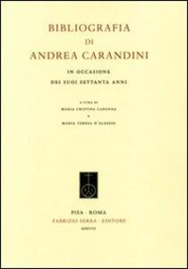 Bibliografia di Andrea Carandini