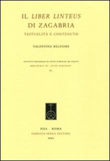 Il Liber linteus di Zagabria. Testualità e contenuto