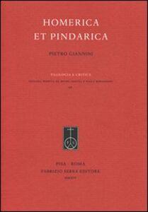 Homerica et Pindarica