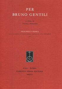 Per Bruno Gentili