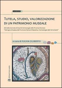 Tutela, studio, valorizzazione di un patrimonio museale. Atti della Giornata di studi di archeologia delle province romane...