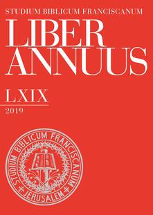 Liber annuus 2019. Ediz. multilingue - copertina