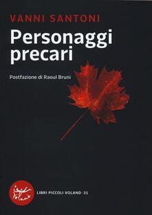 Personaggi precari - Vanni Santoni - copertina