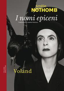 I nomi epiceni - Amélie Nothomb - copertina