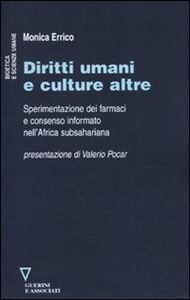 Diritti umani e culture altre. Sperimentazione dei farmaci e consenso informato nell'Africa subsahariana