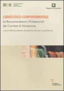 Charun.it Codice etico-comportamentale. Le raccomandazioni professionali dei comitati di valutazione Image