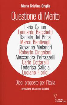 Radiospeed.it Questione di merito. Dieci proposte per l'italia Image