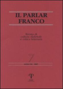 Winniearcher.com Il Parlar Franco. Rivista di cultura dialettale e critica letteraria Image