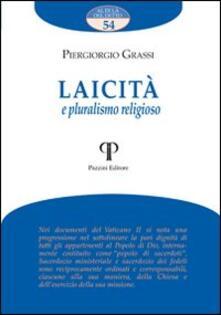 Laicità e pluralismo religioso - Piergiorgio Grassi - copertina