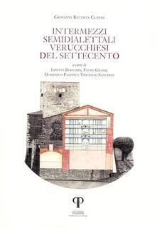 Intermezzi semidialettali verucchiesi del Settecento - Giovanni Battista Cupers - copertina