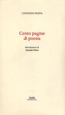 Cento pagine di poesia - Giovanni Papini - copertina