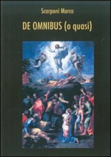 De omnibus (o quasi) - Marco Scarponi - copertina