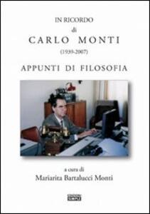Il ricordo di Carlo Monti (1939-2007)