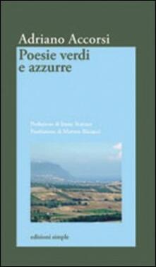 Poesie verdi e azzurre - Adriano Accorsi - copertina