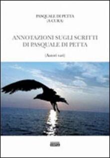 Annotazione sugli scritti di Pasquale Di Petta - copertina