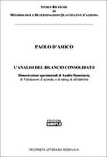 L' analisi del bilancio consolidato - Paolo D'Amico - copertina