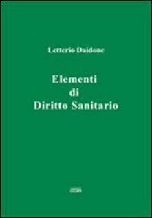 Elementi di diritto sanitario - Letterio Daidone - copertina