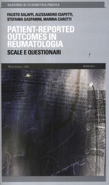 Patient-reported outcomes in reumatologia. Scale e questionari - copertina