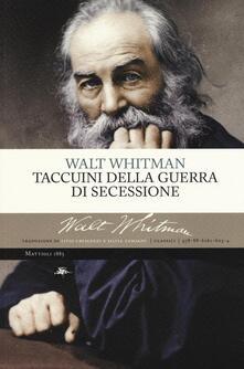 Taccuini della guerra di secessione - Walt Whitman - copertina