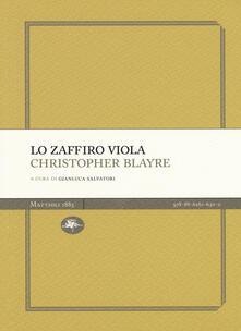 Lo zaffiro viola - Christopher Blayre - copertina