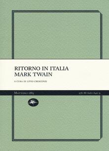 Ritorno in Italia - Mark Twain - copertina