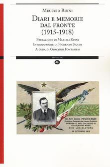 Diari e memorie dal fronte (1915-1918) - Meuccio Ruini - copertina