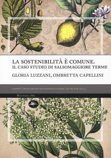 La sostenibilità è comune. Il caso studio di Salsomaggiore terme - Gloria Luzzani,Ombretta Capellini - copertina