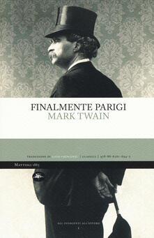 Finalmente Parigi - Mark Twain - copertina
