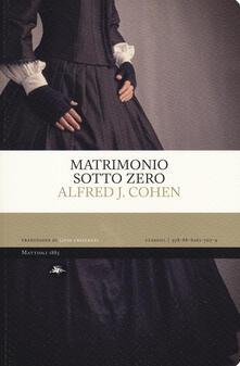 Matrimonio sotto zero - Alfred J. Cohen - copertina