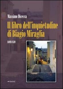 Il libro dell'inquietudine di Biagio Miraglia - Massimo Dicecca - copertina