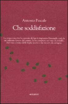 Che soddisfazione - Antonio Pascale - copertina
