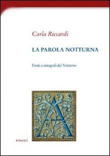 La parola notturna - Carla Riccardi - copertina