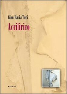 Acrilirico - Gian Maria Turi - copertina