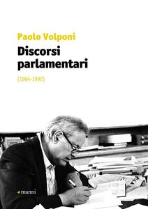 Discorsi parlamentari (1984-1992)