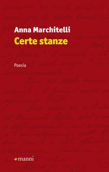 Certe stanze - Anna Marchitelli - copertina