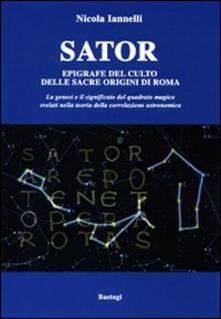Camfeed.it Sator. Epigrafe del culto delle sacre origini di Roma Image