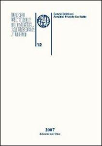 Quaderni dell'Istituto di linguistica dell'Università degli studi di Urbino. Vol. 12