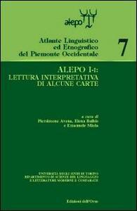 Alepo I-I: lettura interpretativa di alcune carte